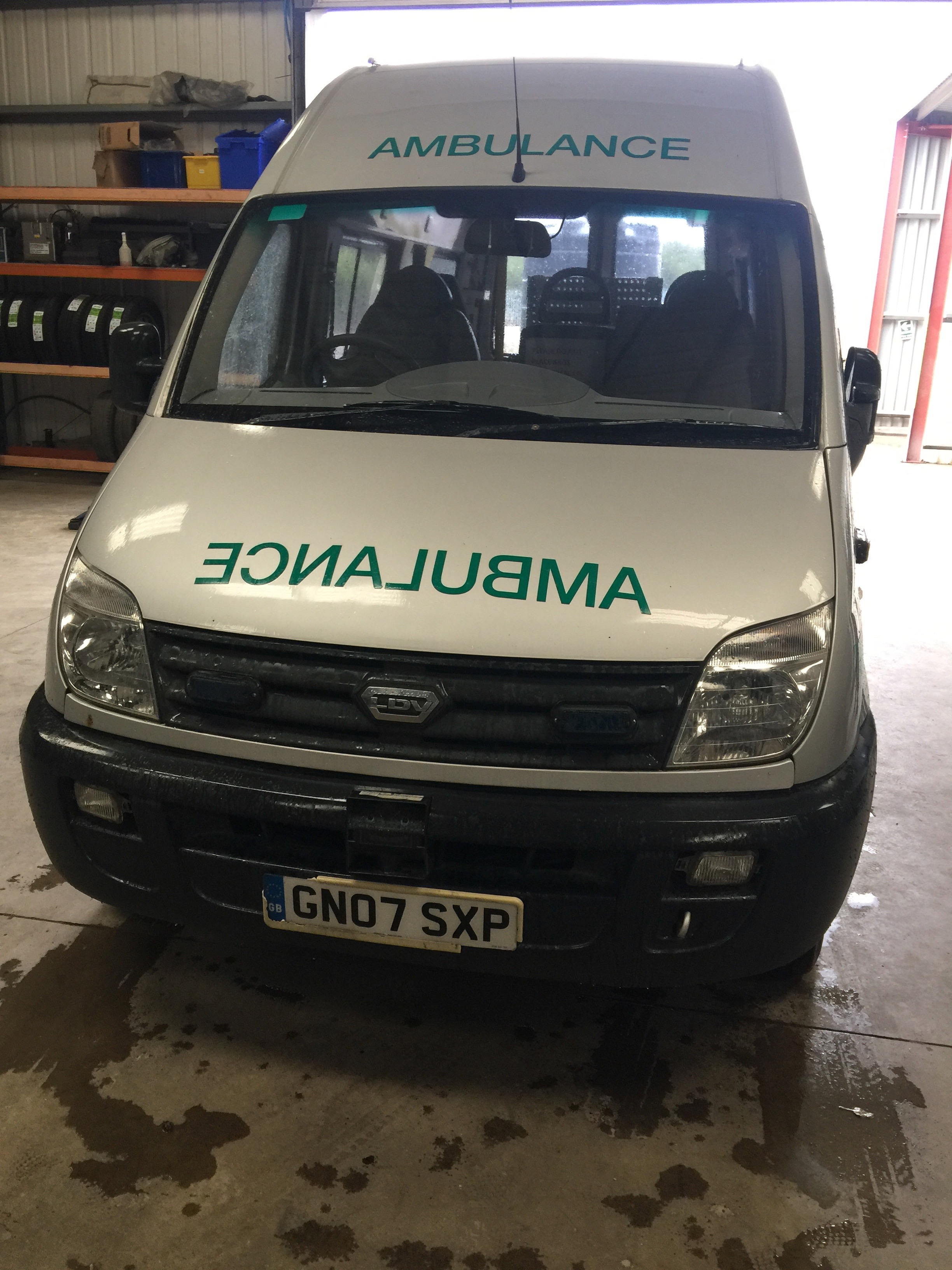 Lot 7 - LDV Maxus standard body patient transfer ambulance Registration No GN07 SXP, 271,000 recorded miles,