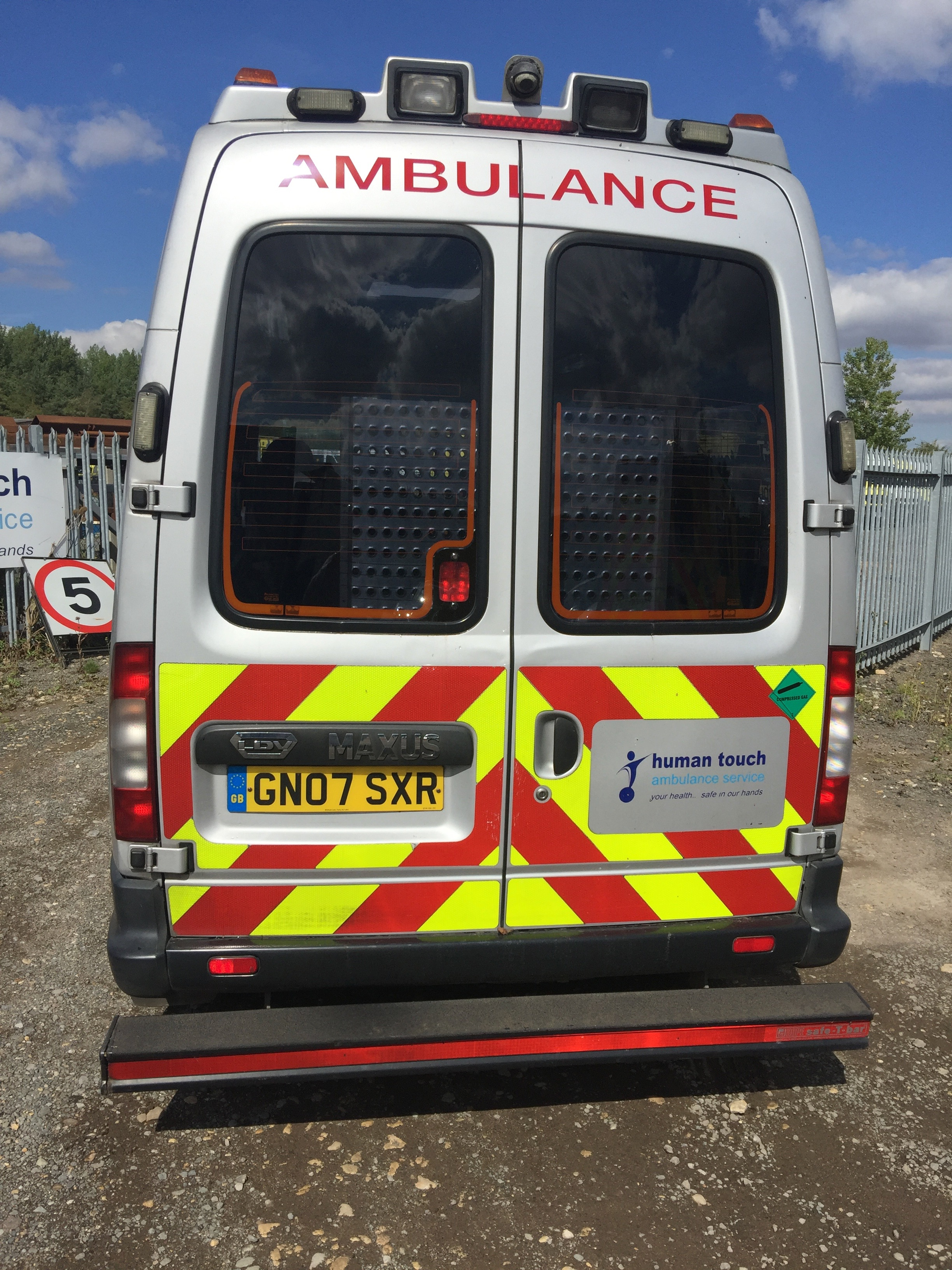Lot 16 - LDV Maxus reg GN07 SXR patient transfer vehicle, rear lift ramp, 248,648 miles, fitted as shown in