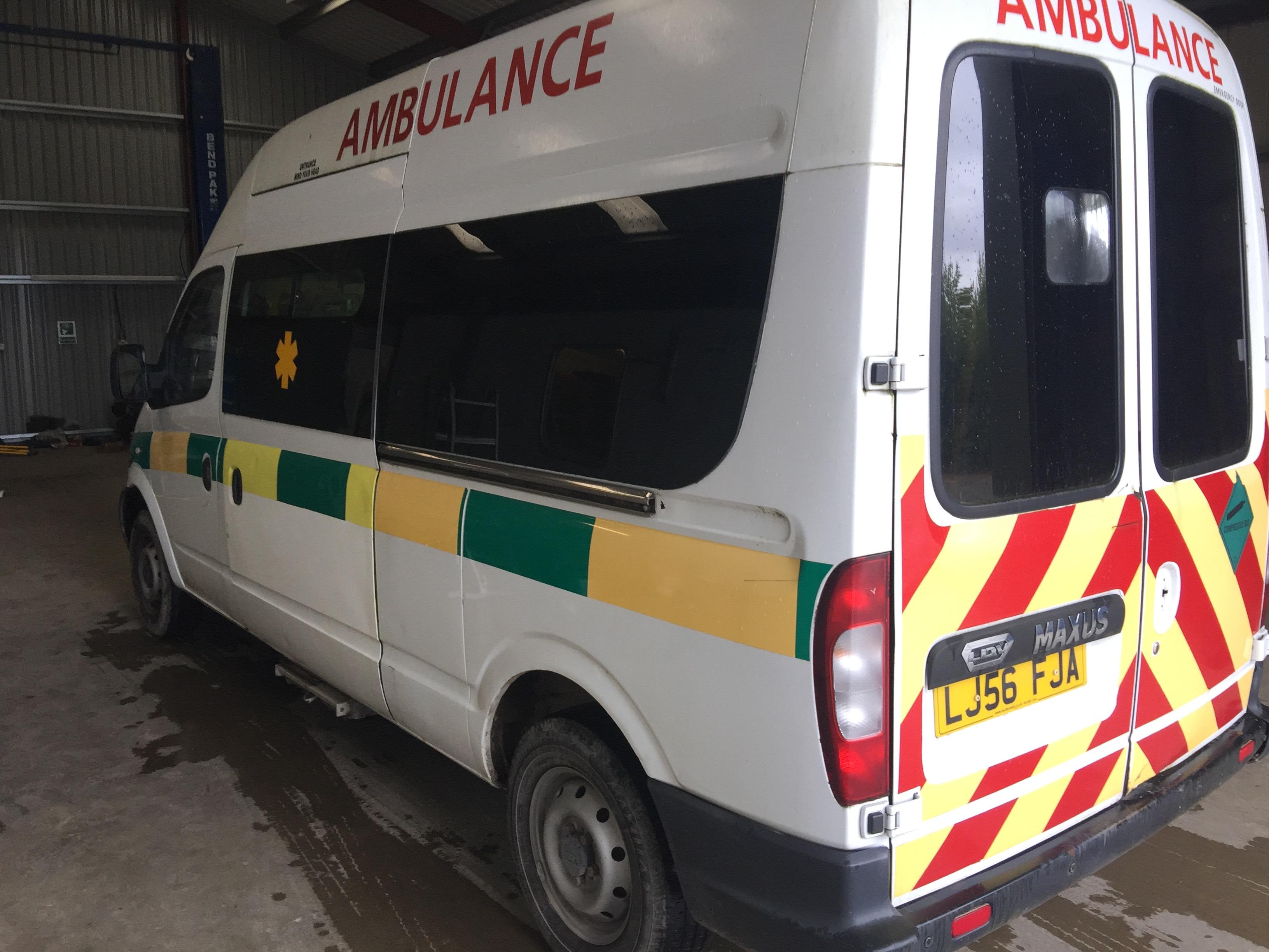 Lot 9 - LDV Maxus standard body patient transfer ambulance Registration No LJ56 FJA, 970587 recorded