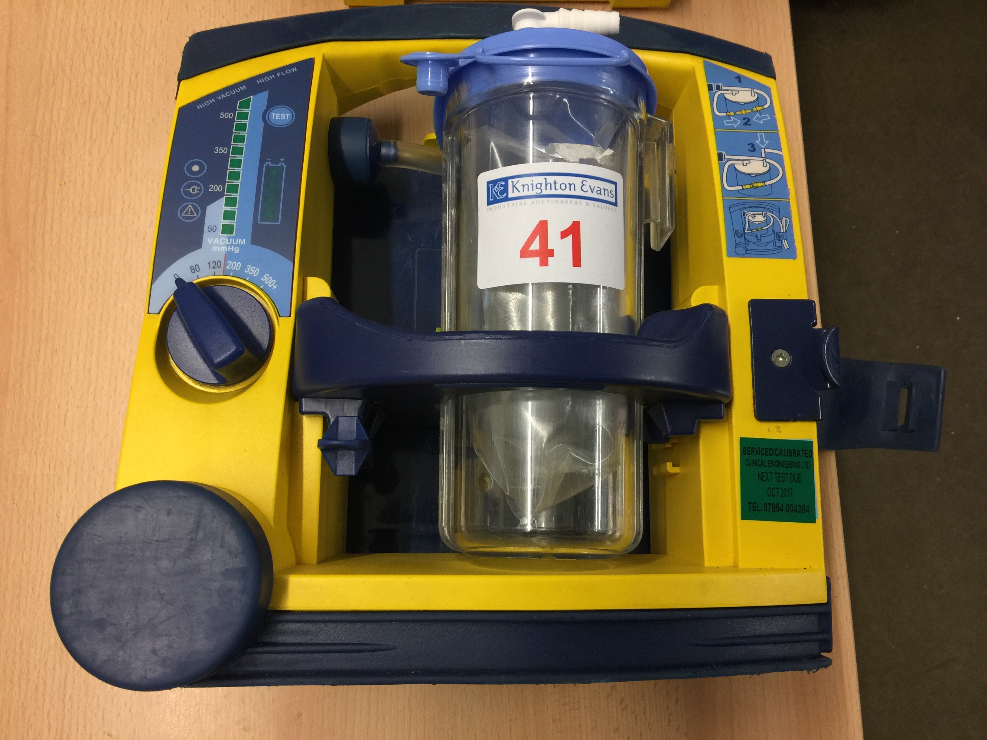 Lot 41 - Laerdal LSU portable suction unit with mounting plate, test due October 2017 (no 12v charger)