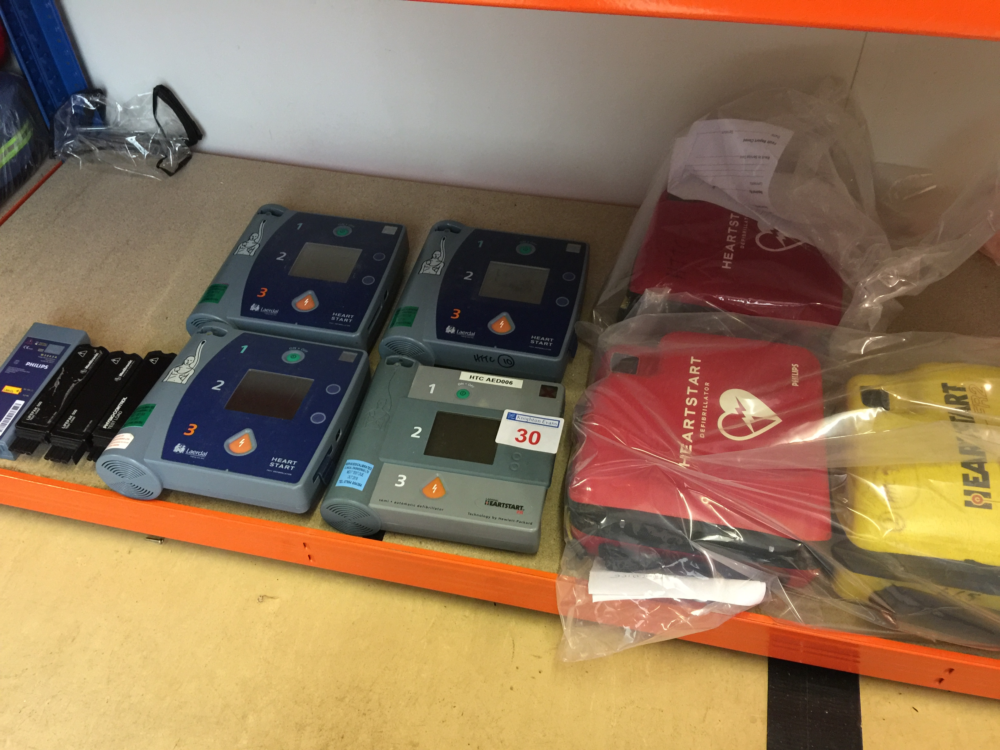 Lot 30 - 3 defibrillators and 4 heart start units