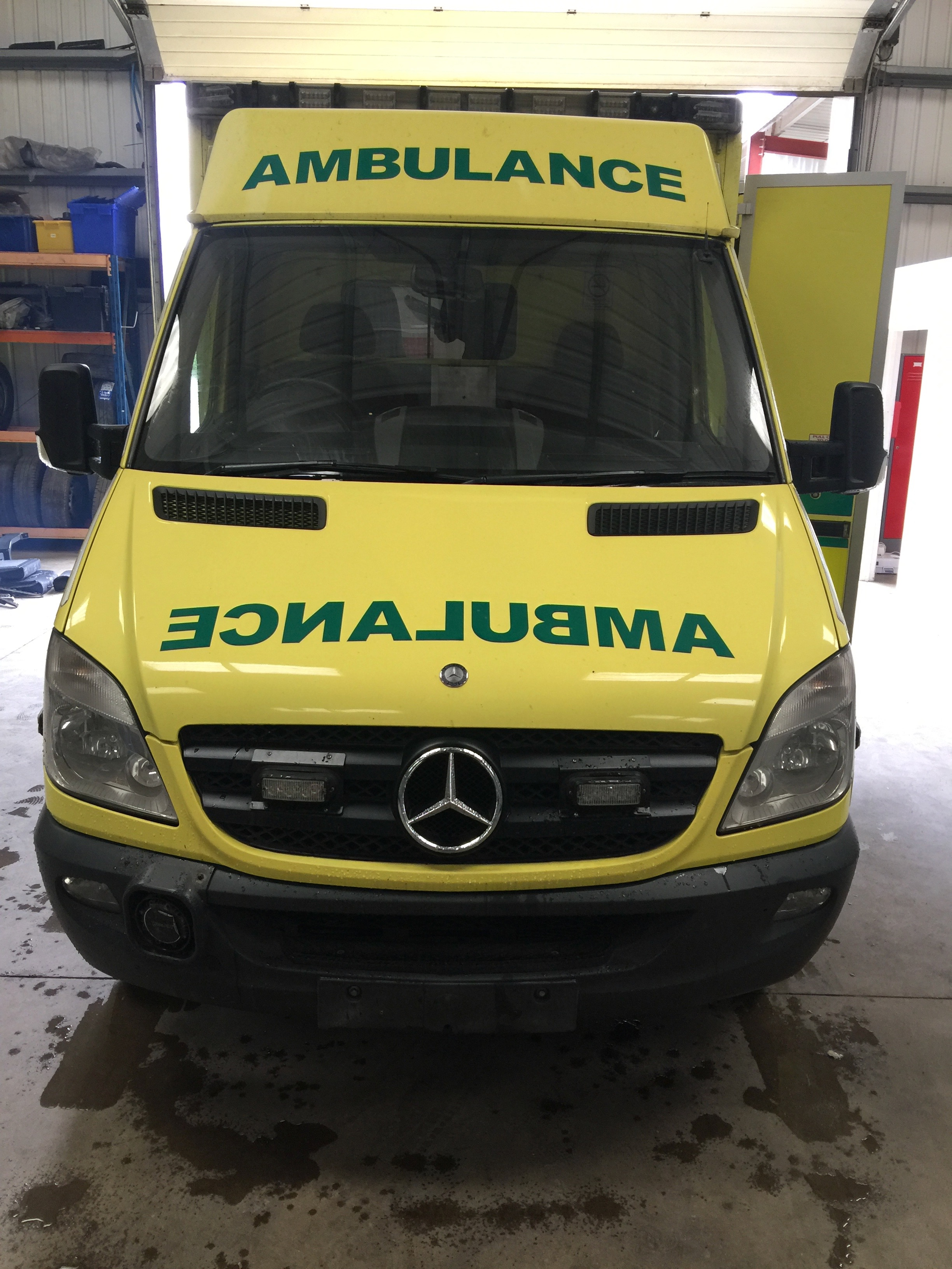 Lot 4 - Mercedes Sprinter wide body HDU ambulance Registration No AY09 CUG, 325408 recorded miles, date of