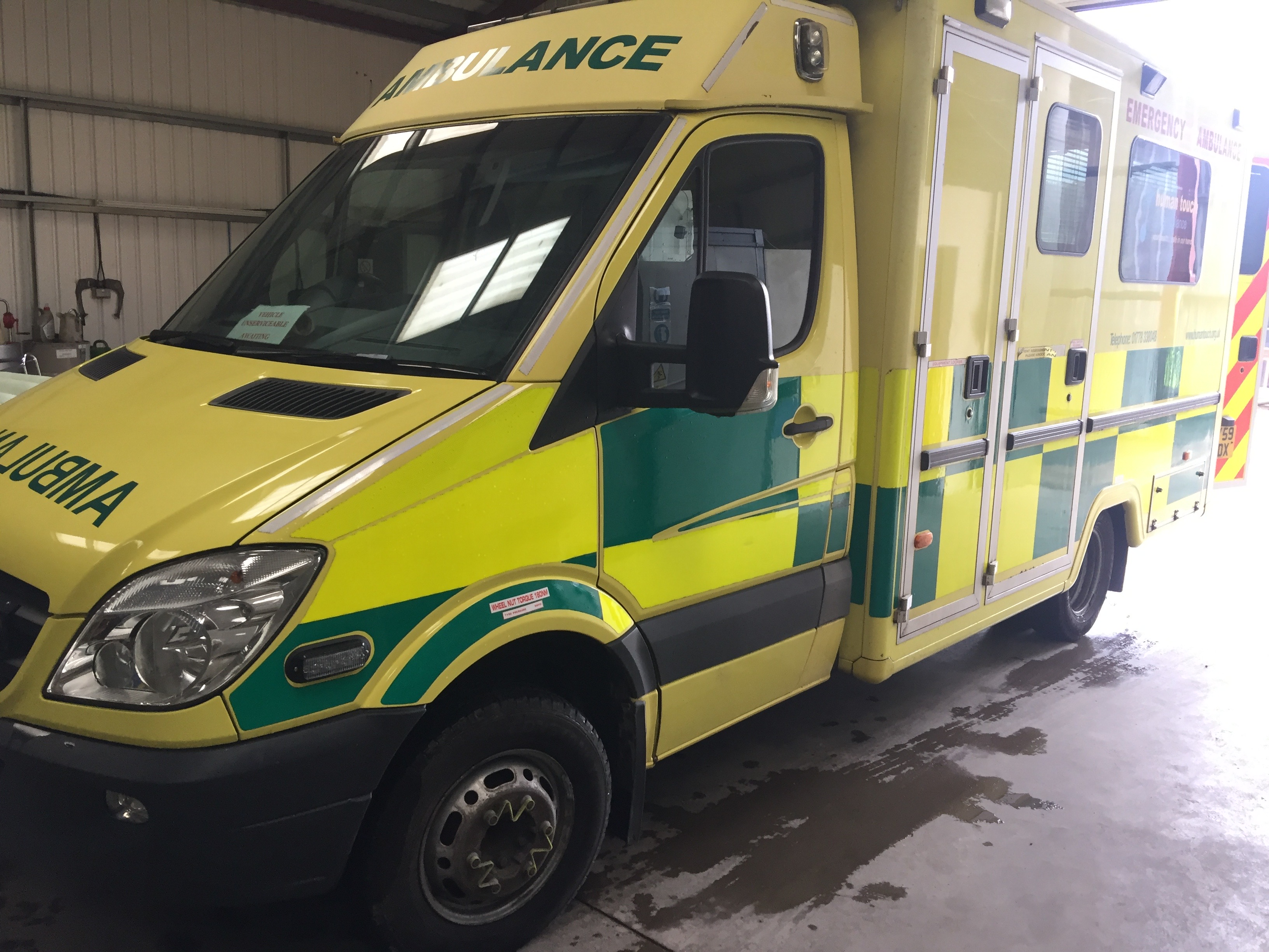 Lot 5 - Mercedes Sprinter wide body HDU ambulance Registration No AY59 BDX, 346,000 recorded miles, date