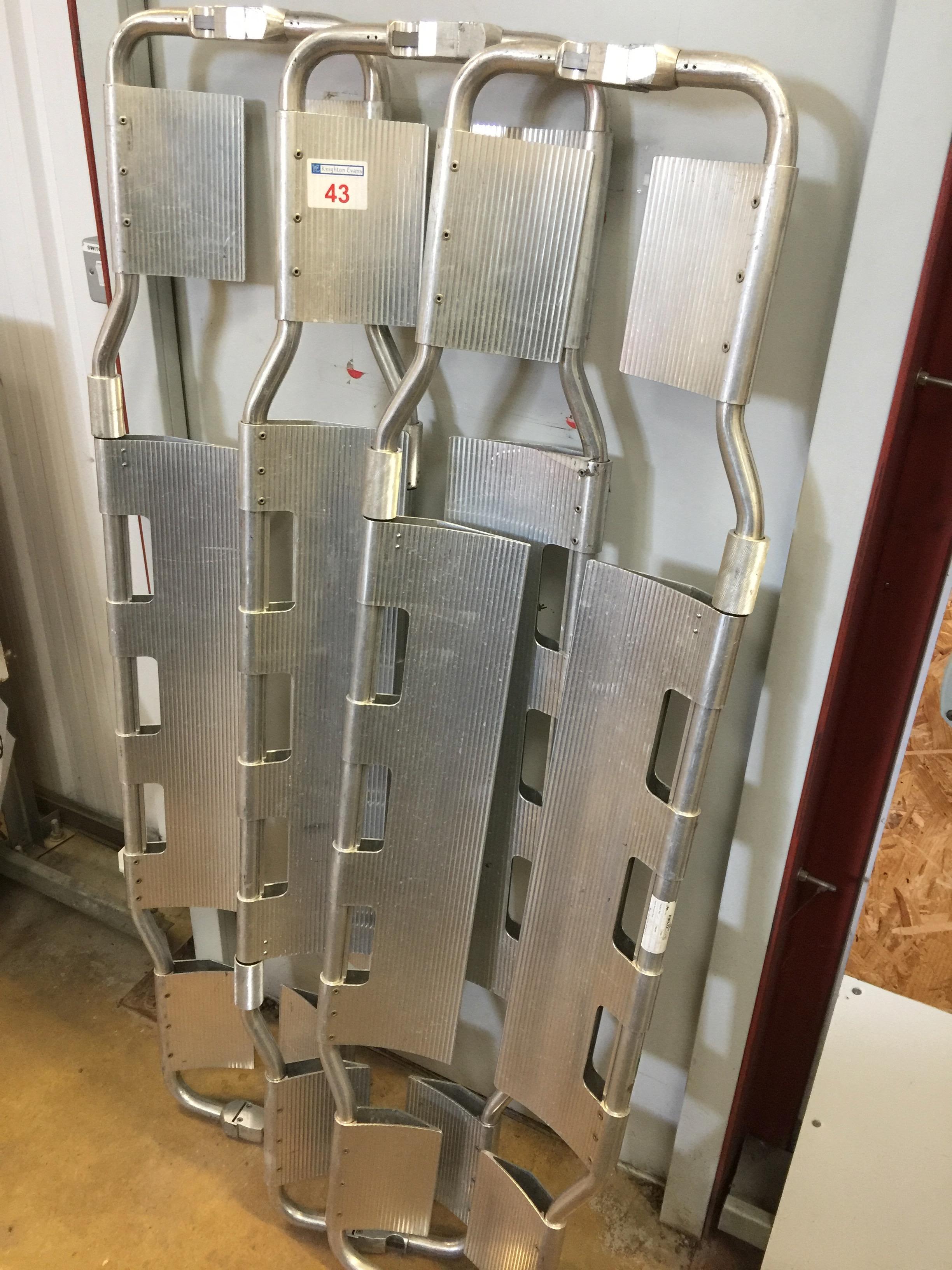 Lot 43 - 3 Ferno aluminium scoop stretchers