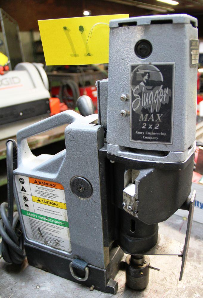 Lot 11 - JANCY ENG. SLUGGER MAX 2X2 PORTABLE MAGNETIC DRILL PRESS