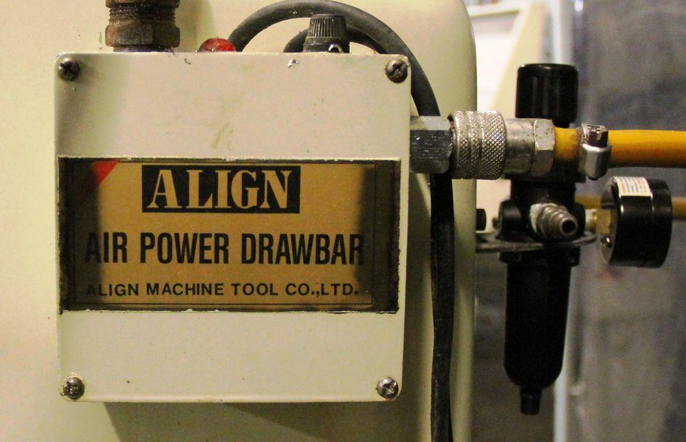 "Lot 50 - DARBERT 5 HP MILLING MACHINE, 12' X 54"" TABLE, POWER CROSS FEEDS, ALIGN AIR POWERED DRAWBAR,"