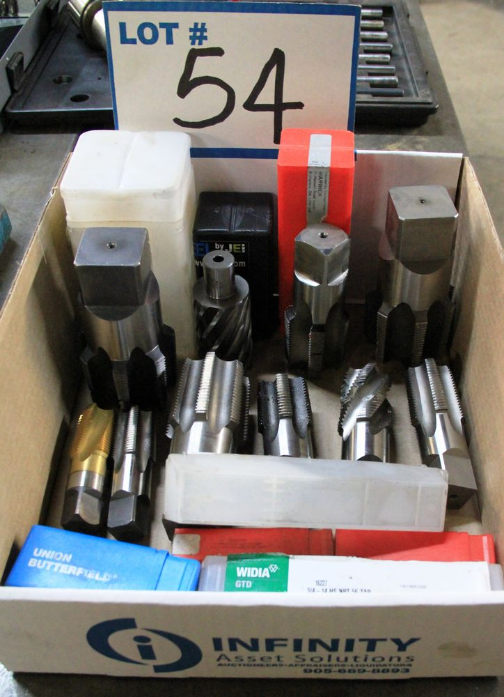 Lot 54 - BOX OF ASSORTED TAPS