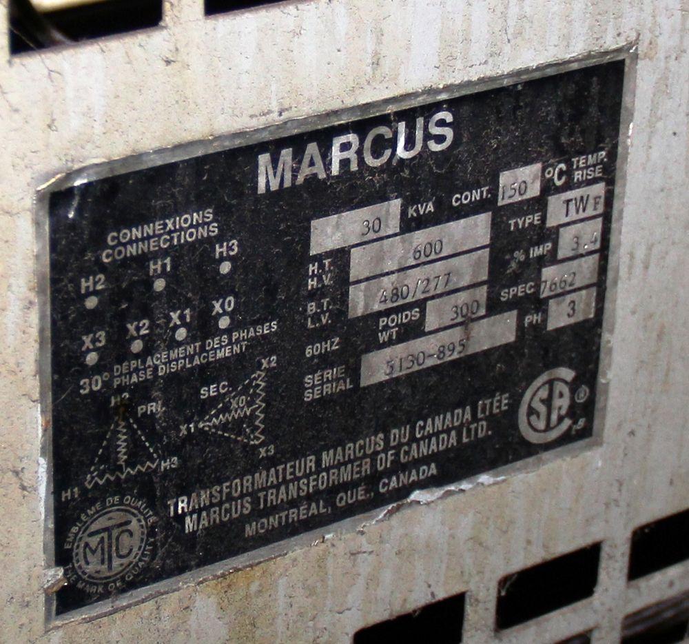 Lot 45 - MARIUS 30 KVA TRANSFORMER