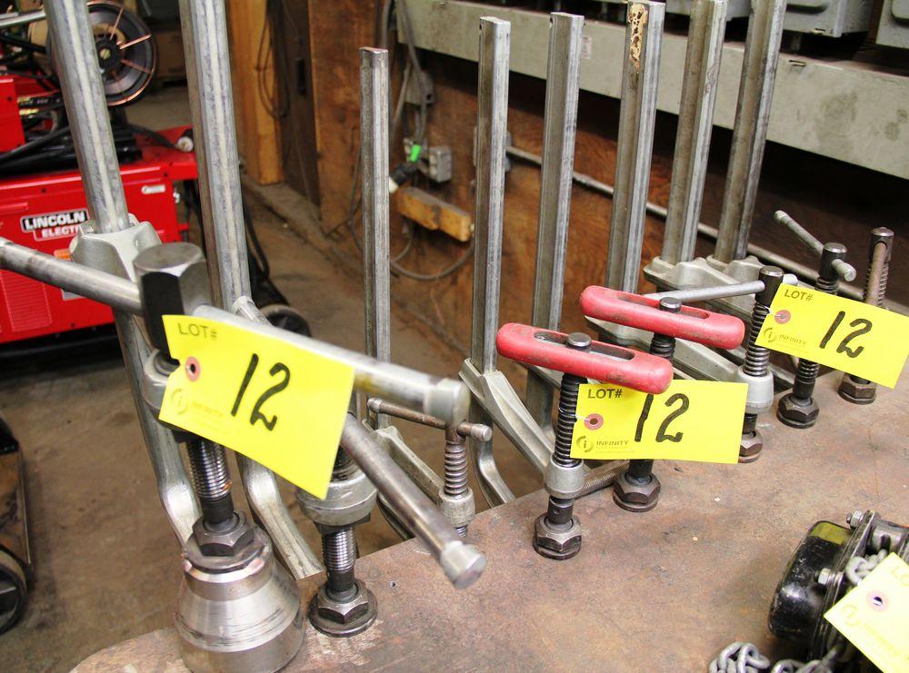 Lot 12 - LOT, (8) ALUMINUM BAR CLAMPS, ASSORTED SIZES
