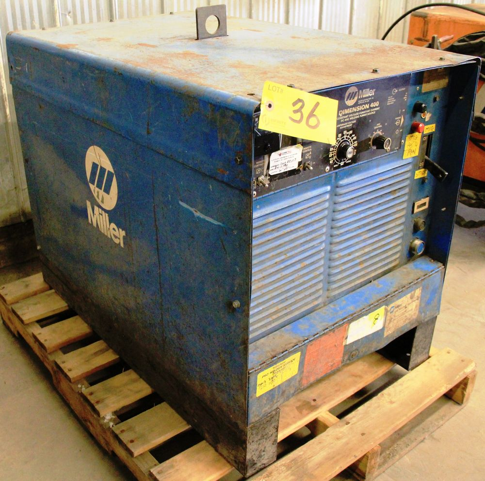 Lot 36 - MILLER DIMENSION 400 ELECTRIC WELDER