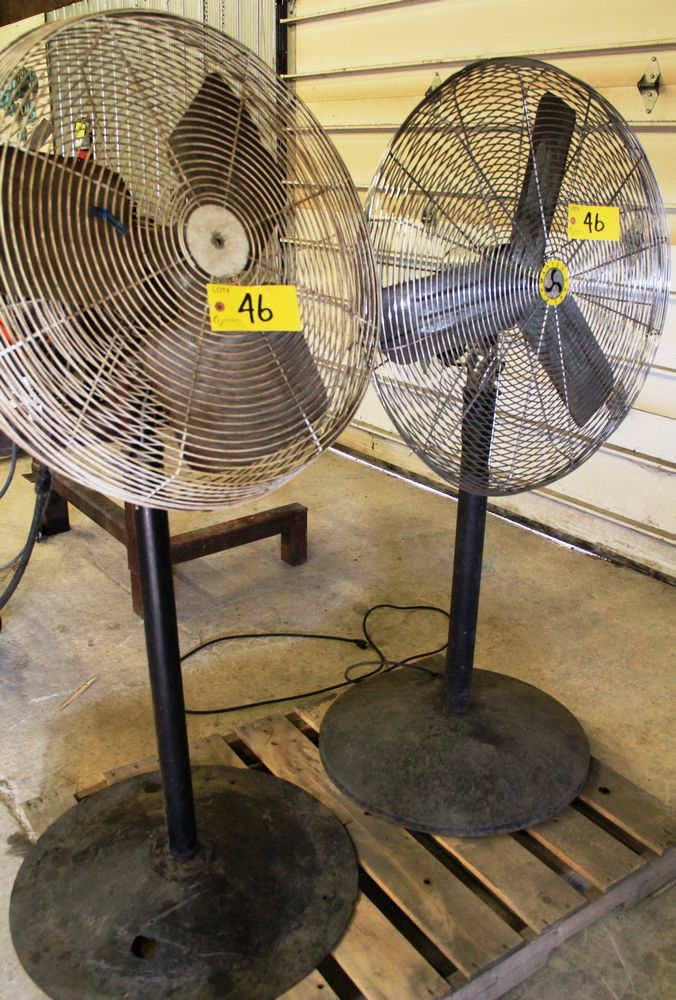 Lot 46 - LOT., (2) AIRMASTER FLOOR TYPE ELECTRIC FANS