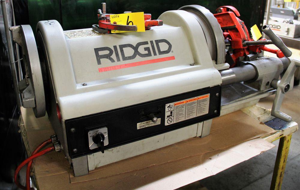 Lot 6 - RIDGID 1224 ELECTRIC PIPE THREADER, SPARE THREADING HEAD, 12/36 RPM, 1/60/120 VOLTS, S/N EB-10875-