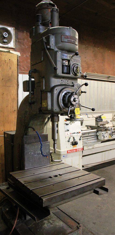 """Lot 51 - ARCHDALE SC2N GEAR HEAD DRILL PRESS, 5HP, 550 VOLTS, 30"""" X 30"""" TABLE, BORING, REAMING & TAPPING"""