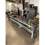 15' X 29'' STEEL ELECTRIFIED WORK BENCH AND STEEL WORK BENCH 5' X 2'