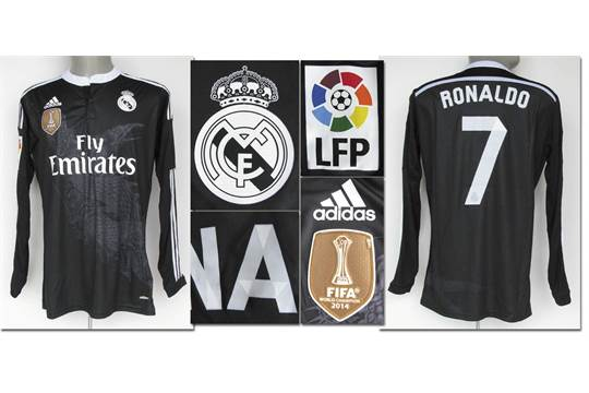 8c61e3c80 match worn football shirt Real Madrid 2014/15 CR7 - Original match ...