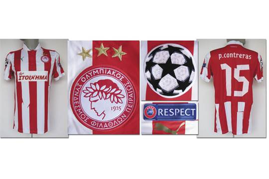 match worn football shirt Oly  Piraeus CL 2012/13 - Original