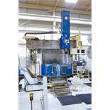 """OM VT5-16N CNC VERTICAL BORING MILL WITH FANUC 11-T CNC CONTROL, 72.74"""" SWING, 63"""" 4-JAW CHUCK, 63."""