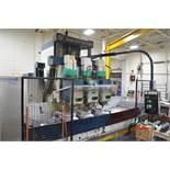 "SNK FSP-120V PROFILER (3) SPINDLE VERTICAL CNC AEROSPACE PROFILER WITH FANUC 11-M CNC CONTROL, 144"""