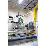 "OKK MCV 820 CNC VERTICAL MACHINING CENTER WITH FANUC 11M CNC CONTROL, 32"" X 78"" T-SLOT TABLE,"