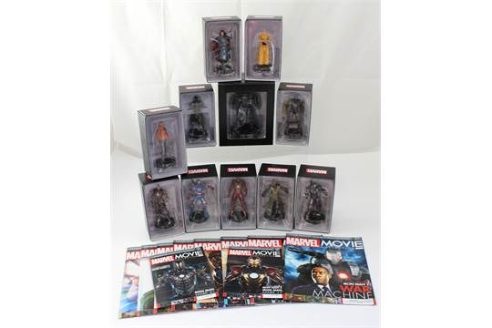 Eight boxed Marvel Movie Collection Iron Man film series