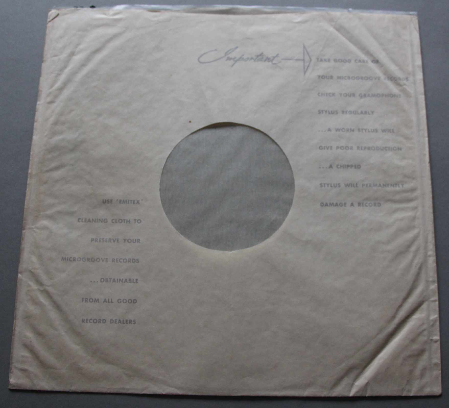 Lot 7A - The first Beatles Long playing record and it is very rare to find a stereo version as this dates