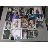 Signed photos of rock and pop stars including Marilyn Manson, Alice Cooper, ACDC (w/ COA),