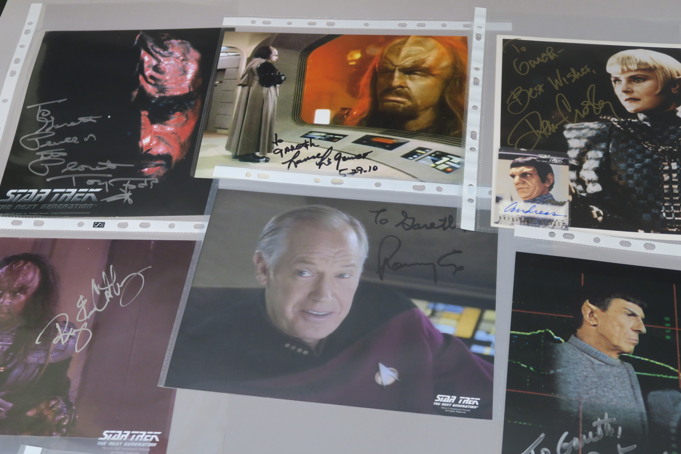Lot 27 - A collection of Star Trek photographs most of which are signed by the stars the collector attended