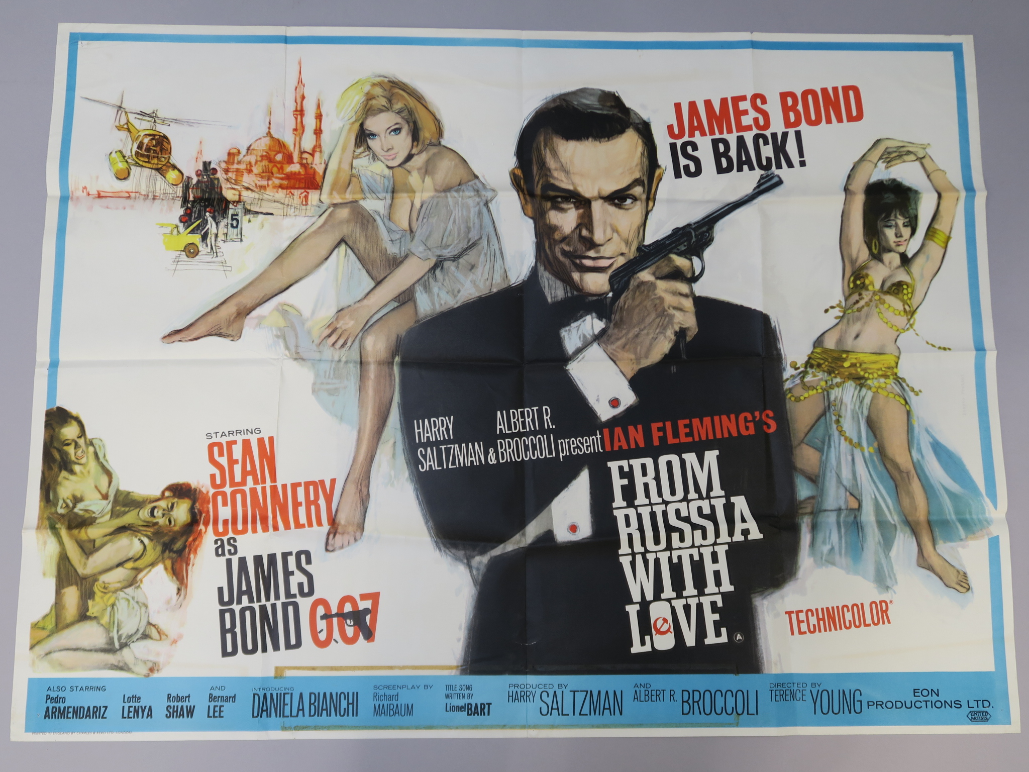 Lot 97 - From Russia with Love (1964) Original British Quad first release film poster starring Sean Connery