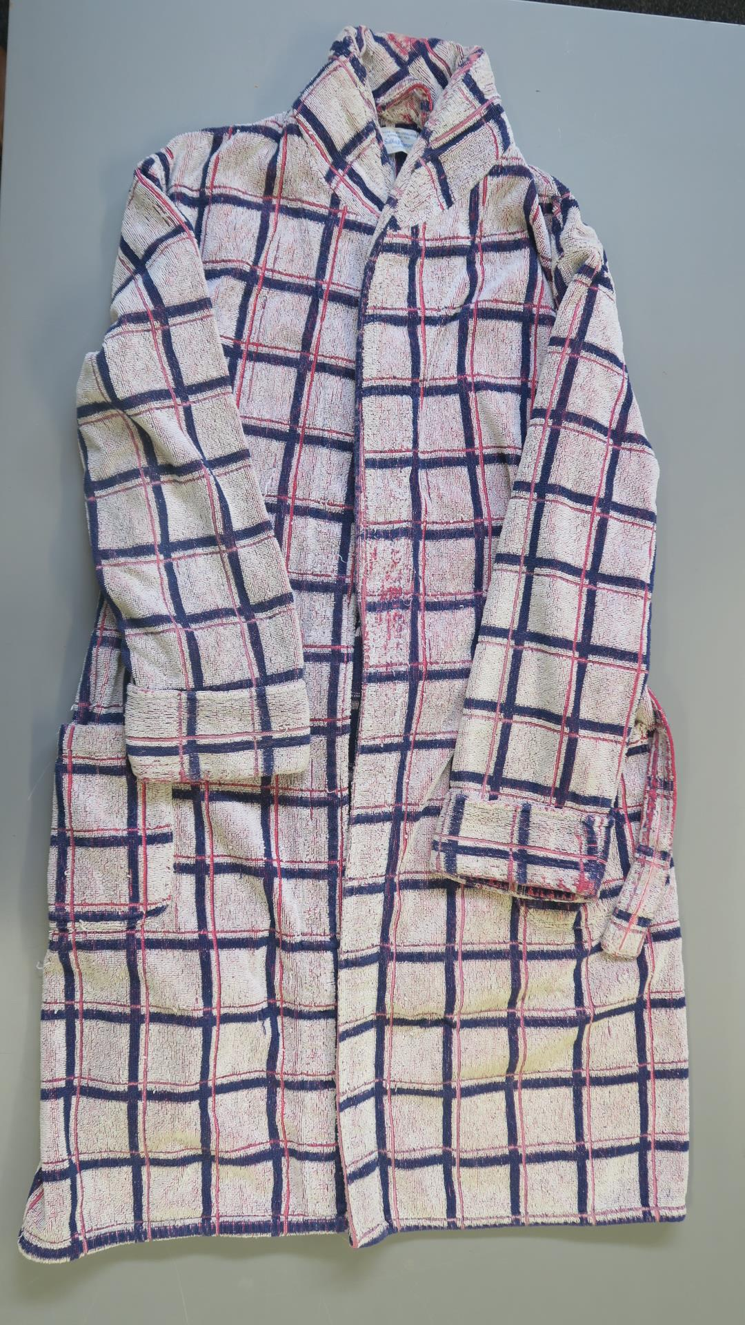 """Lot 166 - JAMES BOND 007 : Roger Moore screen used dressing gown from the James Bond film """"Live & Let Die"""""""