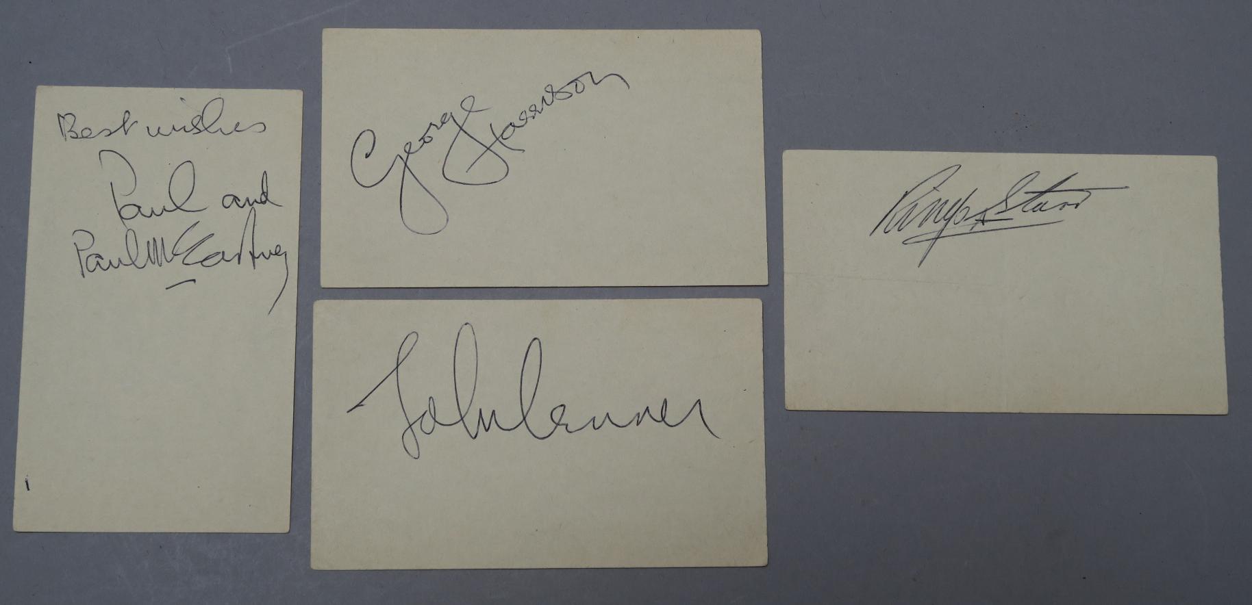 Lot 7 - The Beatles autographs - Paul McCartney, John Lennon,