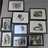 Collection of framed photographs with personally signed photos from the Bond Girls - Jane Seymour,