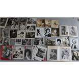 Collection of five folders full of cinema stills mostly measuring 10 x 8 inch,