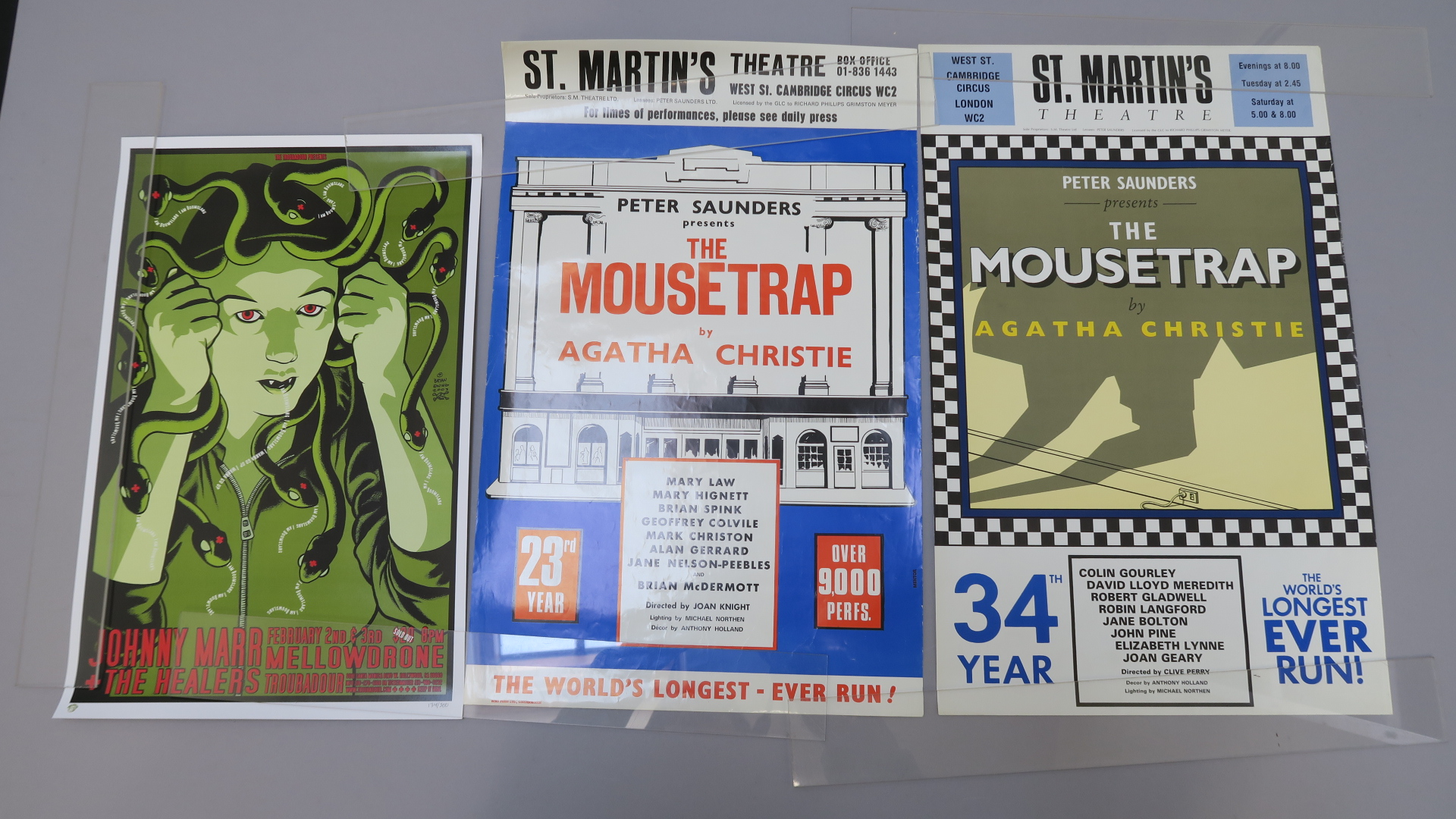 """Lot 19 - U2 programmes and promotional posters including """"Where the Streets have no name"""" poster 24 x 24"""