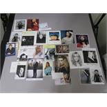 A collection of signed photos most of which appear genuine but may contain facsimile also - Brian