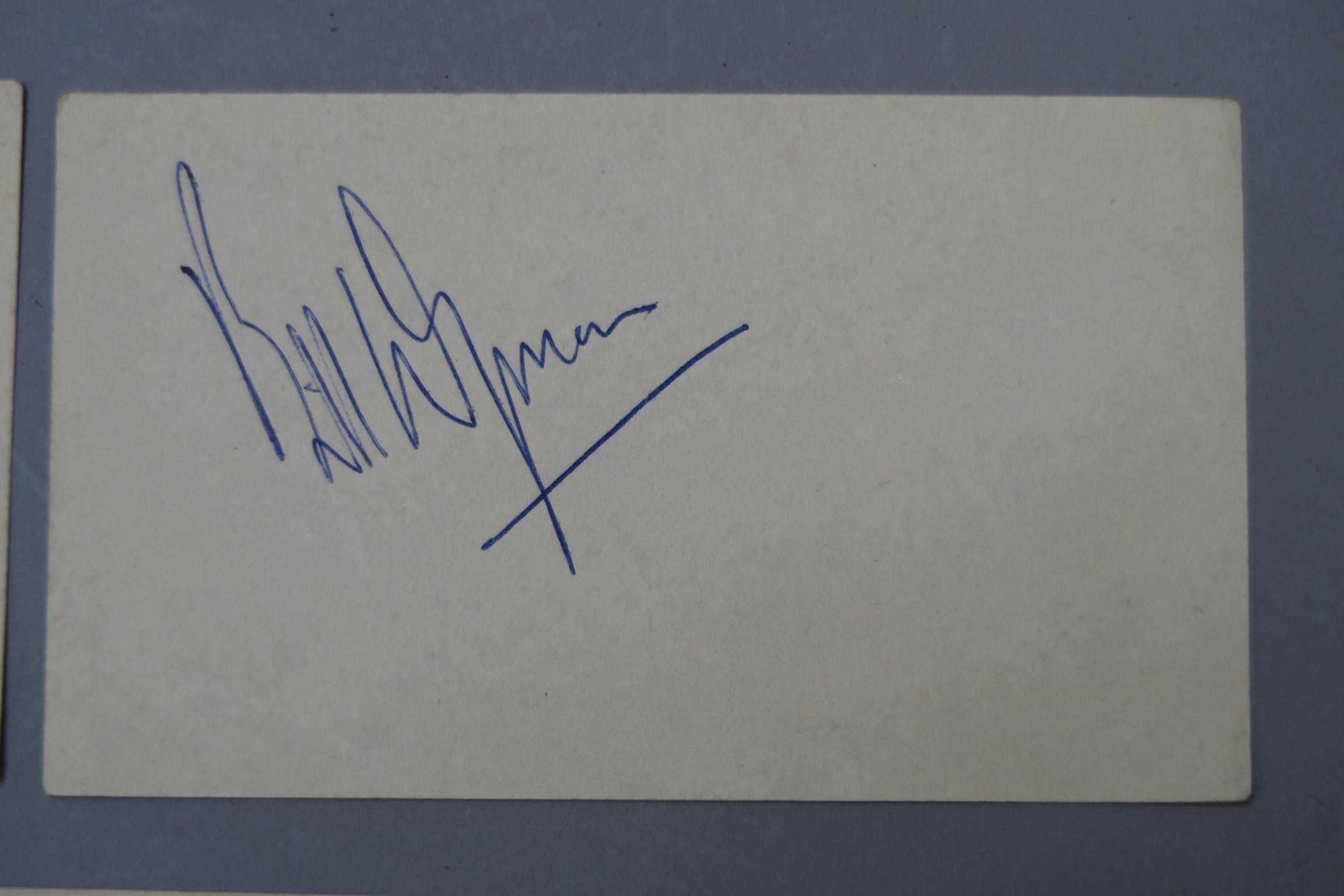 Lot 17 - The Rolling Stones five autographs Mick Jagger, Brian Jones, Bill Wyman,
