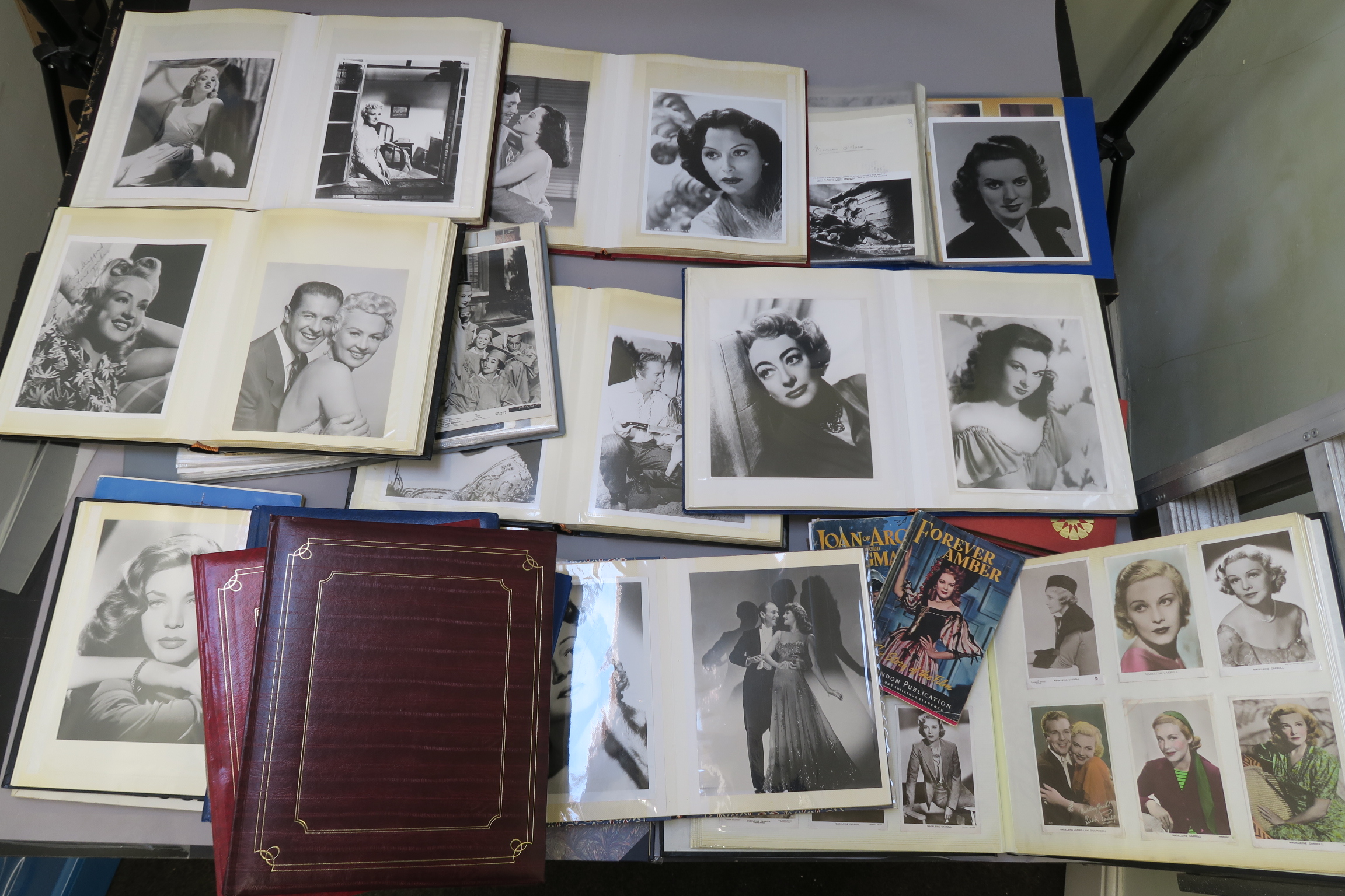 Lot 37 - Female film stars a collection of photograph albums mainly depicting female film stars but many