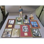John Wayne Bronze Art Gallery statue handmade with original box plus John Wayne bust no 24 made by