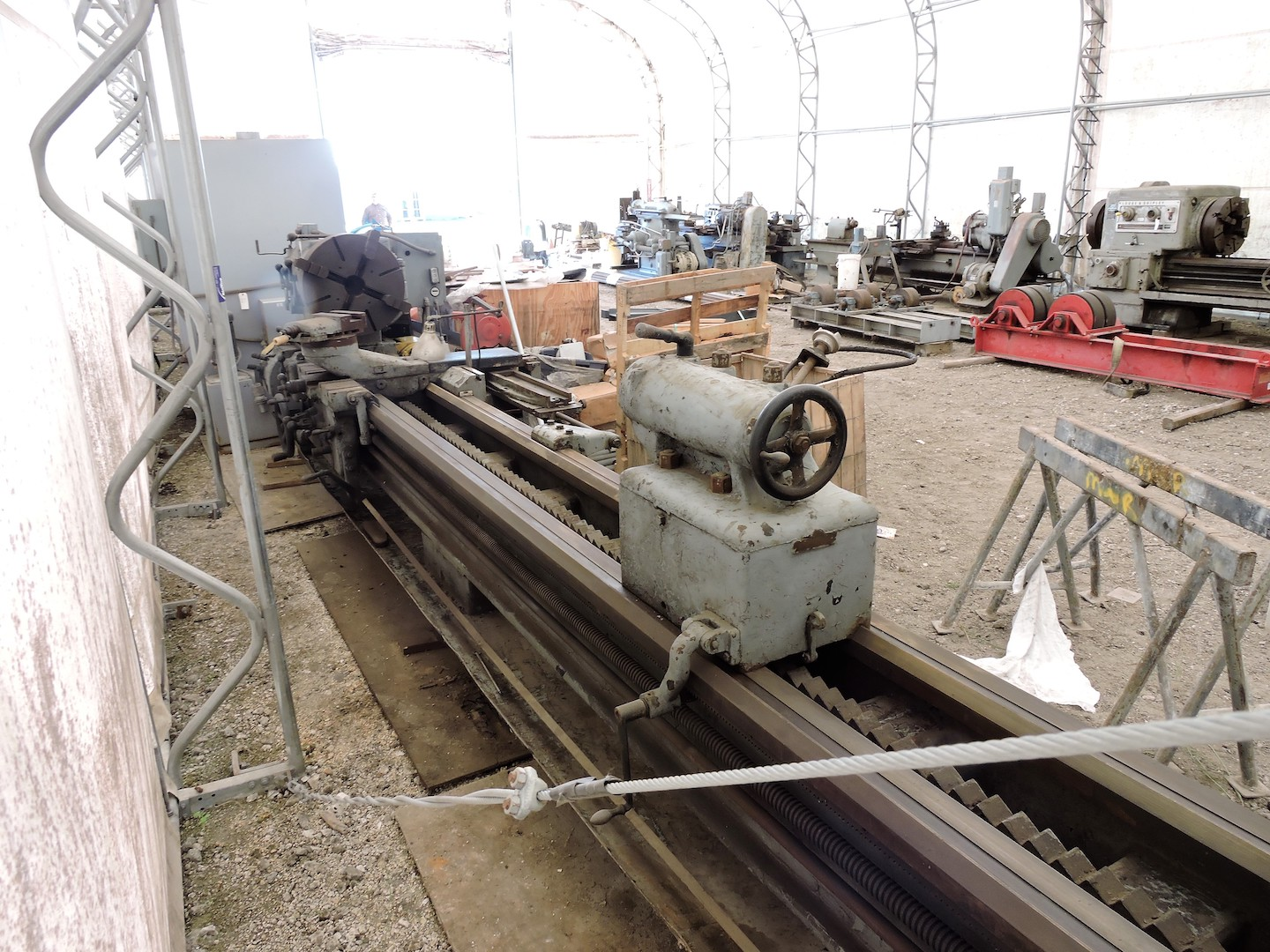 """Lot 3 - MONARCH 36"""" X 200""""ENGINE LATHE: S/N D11310; ACTUAL SWING 38"""";2.4"""" HOLE; 24"""" CHUCK; TAPER"""