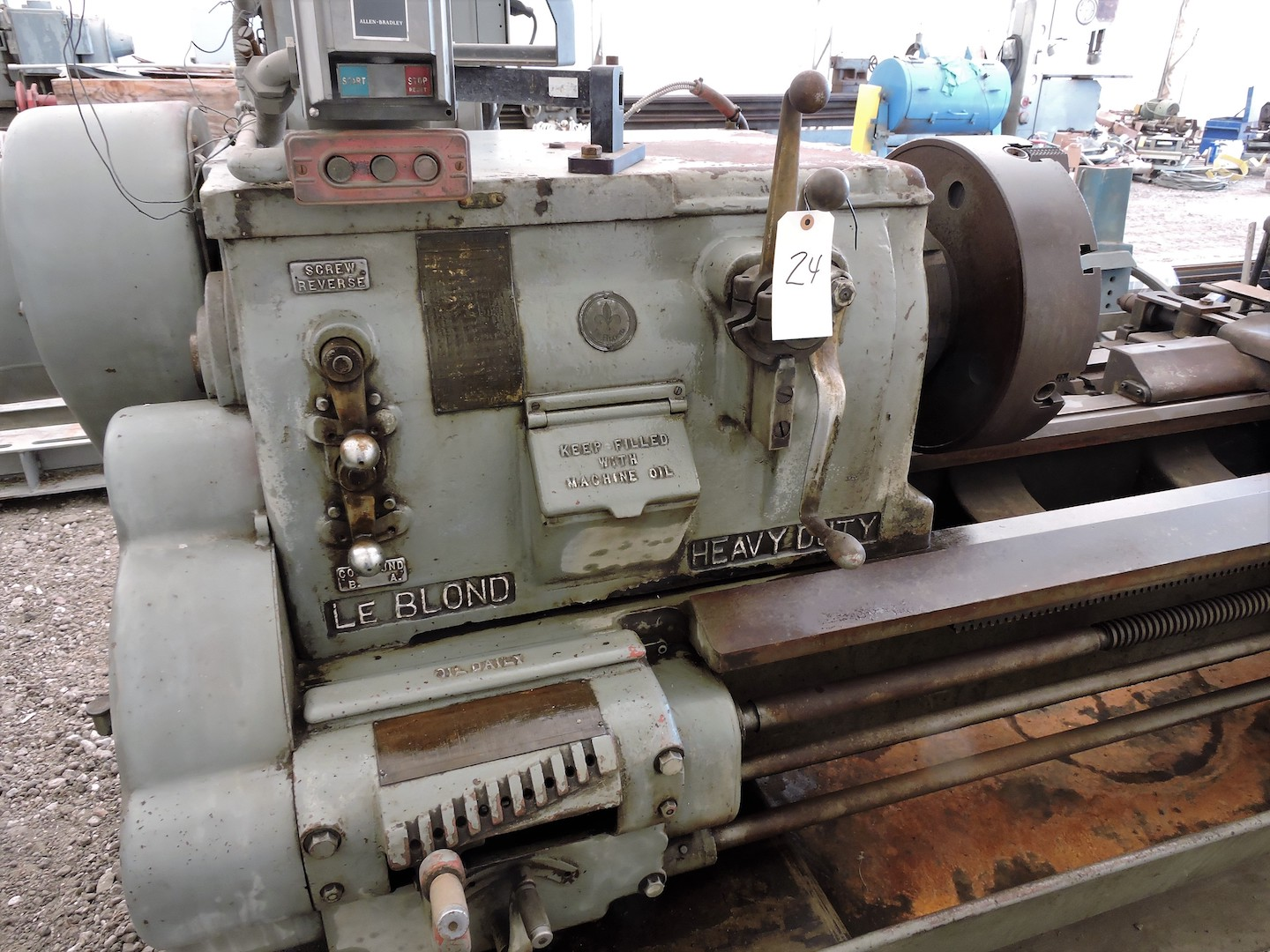 """Lot 5 - LE BLOND 20"""" X 100"""" ENGINE LATHE: S/N N/A; 16"""" CHUCK; TAPER ATTACHMENT; 4-WAY TOOL POST; LIVE"""