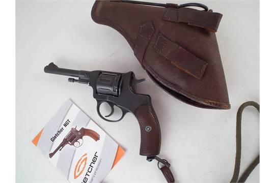 Gletcher 4 5mm /  177 air pistol Nagant revolver with  177
