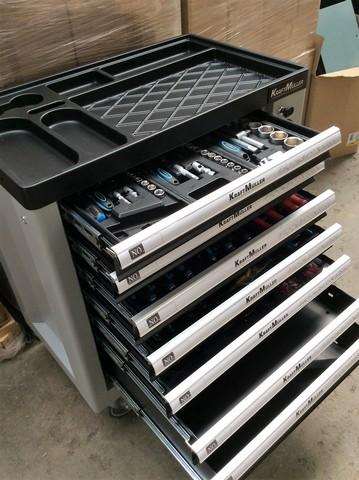 + VAT Brand New Seven Drawer Locking Garage Tool Cabinet With Lockable Castors-Seven EVA Drawers Of - Image 3 of 8
