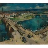 Blechschmidt, Günther: Ansicht der Dresdener Neustadt mit Augustusbrücke
