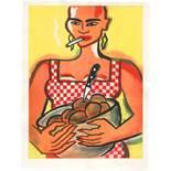 Bach, Elvira: Kartoffelesserin