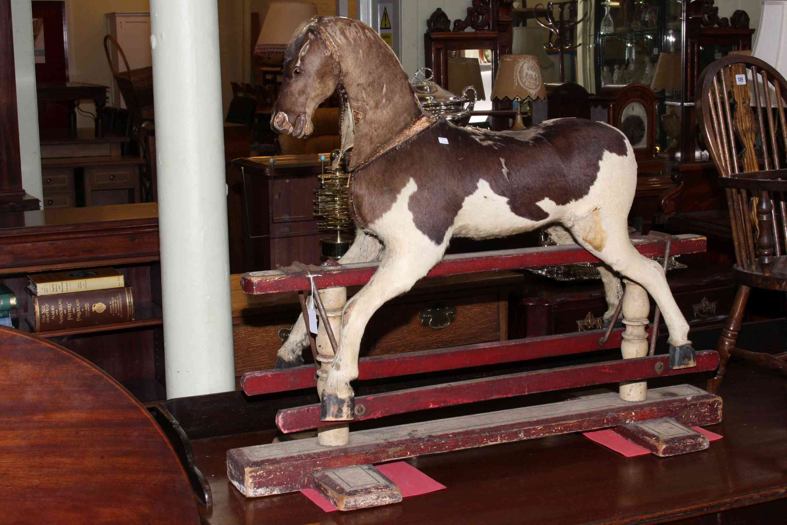 Lot 148 - Victorian rocking horse, 101cm by 83cm by 38cm.