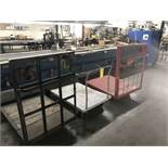 (3) Shop Floor Carts, 4 Wheel Type