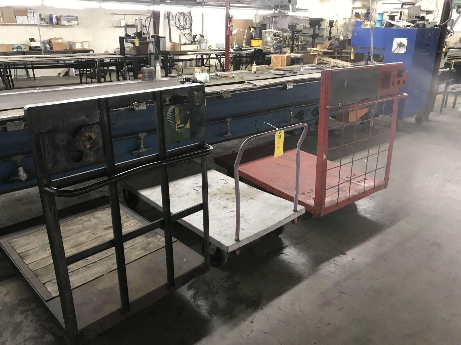 (3) Shop Floor Carts, 4 Wheel Type