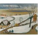 Gabriele Münter. Winterlandschaft. 1939