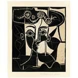 """Pablo Picasso. """"Grande tête de femme au chapeau"""". 1962"""