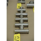 """Lot 27 - 2"""" S/S Clamp Tees Rigging Fee $ 15"""