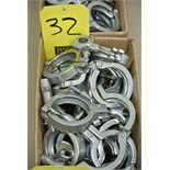 "Lot 32 - 2"" S/S Clamps Rigging Fee $ 15"
